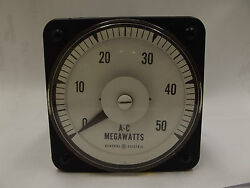General Electric 5a 120v A-c Megawatts Panel Board Meter
