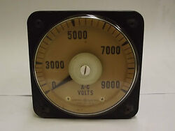 8ab18a7ak1 General Electric 0-9000 A-c Volts Voltmeter Panel Board Meter