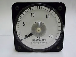 Ab-40 General Electric 5a 120v A-c 0 - 20 Megawatts Panel Board Meter