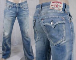 True Religion Jeans Menand039s Billy Bootcut Light Wash Classic Hasting Pass Mja858om