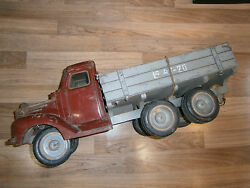 Rare Russian 26l Toy Truck Car 1930's Tip Lorry Carriage Wood/glass/metal Base