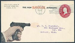 Savage Arms Co. Utica Ny Advertising Used Cover Hv4740