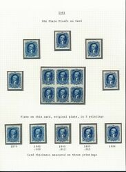 72p4 1861 90andcent Plate Proofs On Card Mounted On Page Hv4849