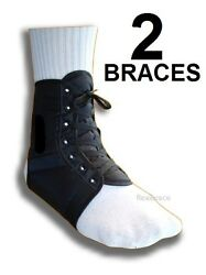 Ankle Brace Support Stabilizer Lace Up One Pair By Flexibrace