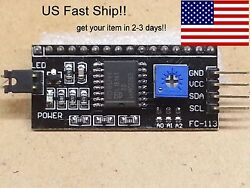 Serial Iic I2c Adapter 1602 1604 2002 Lcd Backpack Arduino Fast Ship-us Seller