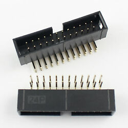 100pcs 2.54mm 2x12 Pin 24 Pin Right Angle Male Shrouded Idc Box Header Connector