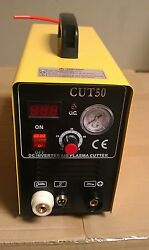 Cal Electric Plasma Cutter 50amp Cut50 Inverter 220v And 35 Nickel Plated Consuma
