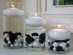 3quot; White Floating Candles. Set of 4 Candles Unscented value pack for vase decor