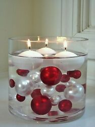 1.8quot; White Floating Candles Set of 6 Candles Unscented