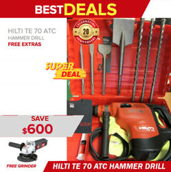 Hilti Te 70 Atc Hammer Drill Brand New Free Grinder Bits And Chisels