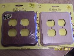 Solid Wood Wallplates--double Outlet--nos