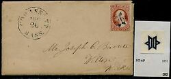 11 On Cover W/ Cohasset, Mass.cds And 6 Point Segmented Star Unlisted Bq6382