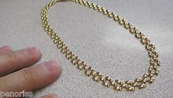 Gorgeous 16 Inch 14k Gold Necklace Modern Link Style Choker Italy Make Offer