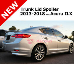 Flush Trunk Lip 13-18 For Acura Ilx Spoiler Painted Crystal Blk Pearl Nh731p