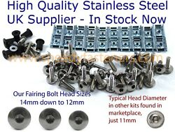 Aprilia Rs50 1999-2005 Complete Stainless Steel Fairing And Screen Bolt Bolts Kit