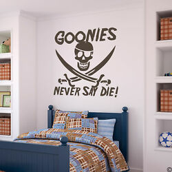 GOONIES NEVER SAY DIE Wall Decal classic 80#x27;s movie removable sticker K018 W