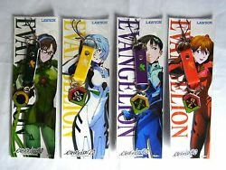 Evangelion Lowson Limited Original Phone Straps All 4 Characters Completed Set