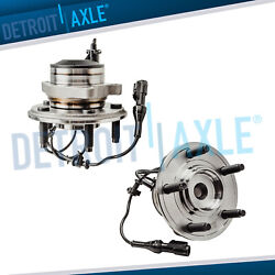 Set Of 2 New Front Wheel Hub And Bearing 2wd W/ Abs For Jaguar S-type Xf Xjr