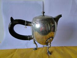 Sterling Silver Middle Eastern Jug Unmarked C-1800 Engraved Great Quality