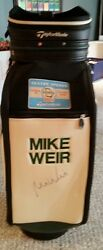 Mike Weir Autographed Taylormade  full size golf bag  04 season open 12