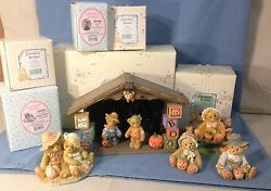 Cherished Teddies Halloween/harvest Figurines With Boxes And Paperwork