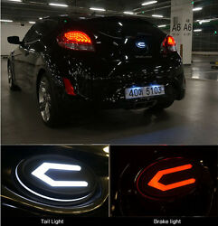 Front Radiator Rear Trunk Concepto 3d Led Emblem For 20112014+ Hyundai Veloster
