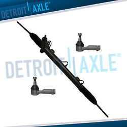 Complete Rack And Pinion + 2 New Outer Tie Rod Ends For Ford Lincoln Trucks 4wd