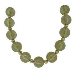 Dolce And Gabbana Jewels Dj0623 Women's Gold Tone Fleck Lucite Beaded Necklace 17