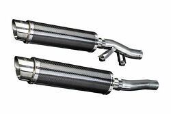 Kawasaki Concours Zg1000 Delkevic Slip On 14 Carbon Round Muffler Exhaust 86-06