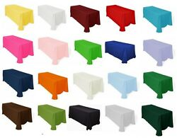 Tablecloths 60x126 Rectangle Polyester Seamless Many Colors Catering Made Usa