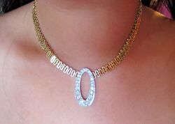 Unique 3ct Custom Diamond Necklace High Fashion Yellow Gold One Of A Kind
