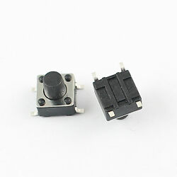 1000pcs Momentary Tactile Tact Push Button Switch 4 Pin Smt Smd 6x6x7mm High 7mm