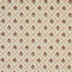 F917 Burgundy Gold Green Floral Diamond Tapestry Upholstery Fabric By The Yard
