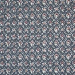 F919 Blue Burgundy Green Floral Diamond Tapestry Upholstery Fabric By The Yard