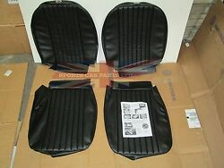 New Front Seat Covers Upholstery Mgb 1973-80 Factory Made In Uk Pleated Black