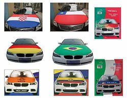 CAR HOOD COVER & ACCESSORIES FLAGS PORTUGAL GERMANY BRAZIL ITALY ECUADOR CHILLE