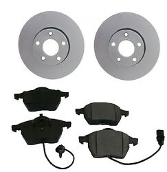 Set Of 2 Meyle Anti Corrision Front Rotors And Aftermarket Pads A4 A6 Passat