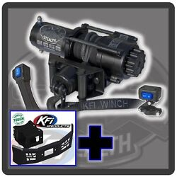 3500 Lb Kfi Stealth Winch, Mount And Grill Combo - New Polaris Sportsman Ace 2014