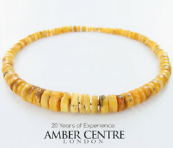 German Baltic Amber Rare Antique Natural Handmade Bead Necklace A0150 Rrpandpound6990