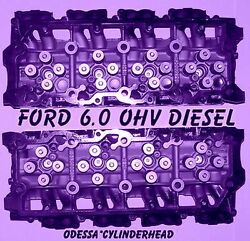 Ford 6.0 Turbo Diesel F350 Truck Cylinder Heads 20mm Cast 613 Only 06andup Reman