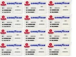 50 Kendall Goodyear Static Cling Oil Change Sticker