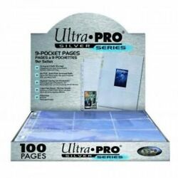 Ultra Pro Silver Series 100/9 Pocket Page Protectors, New, Free Shipping