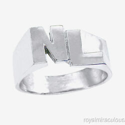 Personalized Initial Ring - Name Ring Unisex Block Style 6mm 14k Gold