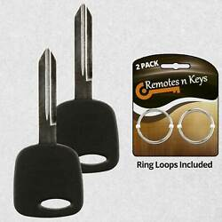 2 For New Replacement Uncut Ignition Chipped Key Fob 4c Transponder Chip H72-pt