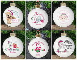 Personalised Baby's My 1st First Christmas Tree Baubles Gifts Unique Gift Idea