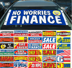Windshield Slogan Banner Advertising Special Financing Available U Pick 295