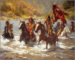 Howard Terpning Capturing The Chiefand039s Coat Canvas S/n W/coa Ebay Low-offer