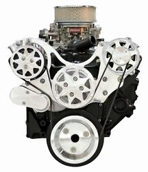 Billet Serpentine Kit - Small Block Chevy - Polished - W/ac And No Ps