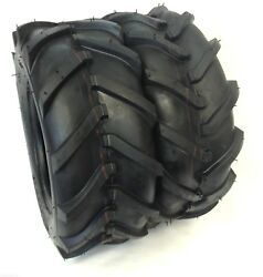 Two 16x6.50-8 Heavy Duty 4 Ply Rated 16x6.50x8 Tractor Lug Ag Tire 16x650x8