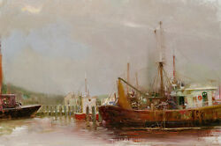 Pino At The Dock S/n W/coa Canvas 1500srp-offer